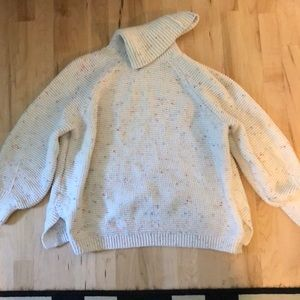 Lou & Grey Sz Medium Confetti Cowl Neck Sweater
